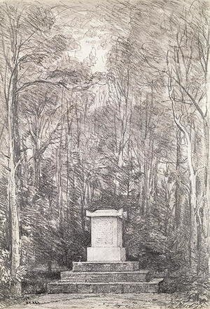 Reproduction oil paintings - John Constable - Cenotaph to Sir Joshua Reynolds at Coleorton Hall, Leicestershire, 1823