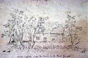 Reproduction oil paintings - John Constable - Cottage at East Bergholt, with a well