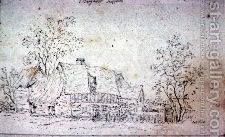 Cottage at East Bergholt 2 by John Constable - Reproduction Oil Painting