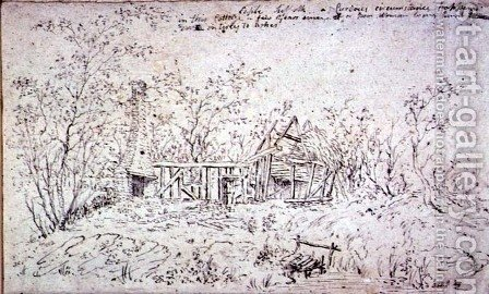 Cottage at East Bergholt 3 by John Constable - Reproduction Oil Painting