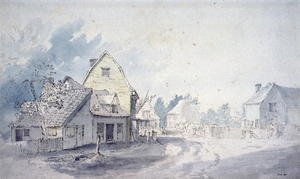 Reproduction oil paintings - John Constable - East Bergholt Street, East Bergholt