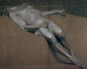 Reproduction oil paintings - John Constable - Study of a recumbent male nude