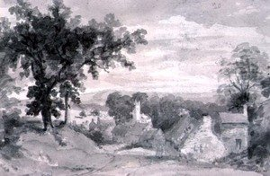 Reproduction oil paintings - John Constable - The Entrance to the Village of Edensor