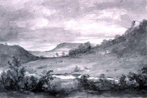 Reproduction oil paintings - John Constable - Matlock High Tor 2