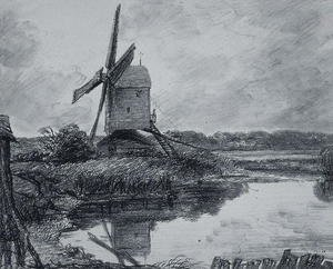 Reproduction oil paintings - John Constable - A mill on the banks of the River Stour