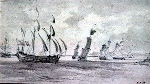 Reproduction oil paintings - John Constable - Shipping in a Breeze in the Thames or Medway
