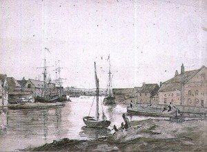 Reproduction oil paintings - John Constable - Warehouses and Shipping on the Orewell at Ipswich