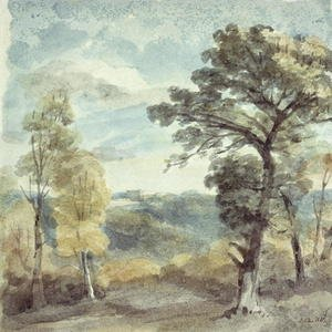 Reproduction oil paintings - John Constable - Landscape with Trees and a Distant Mansion