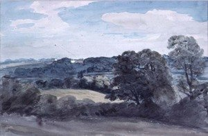 Reproduction oil paintings - John Constable - Landscape with Buildings in the distance