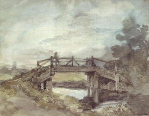 Reproduction oil paintings - John Constable - A Bridge over the Stour