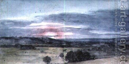 John Constable: Dedham Vale from East Bergholt Sunset - reproduction oil painting