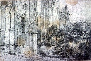 Reproduction oil paintings - John Constable - Ruins of a church