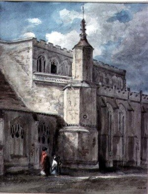 Reproduction oil paintings - John Constable - Part of the Exterior of East Bergholt Church The North Side