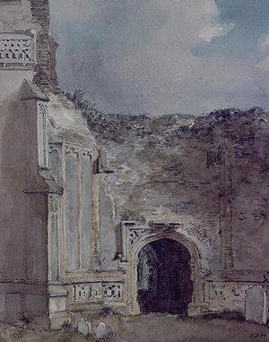 Reproduction oil paintings - John Constable - East Bergholt Church: North Archway of the Ruined Tower