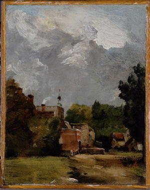 Reproduction oil paintings - John Constable - East Bergholt Church  South Archway of the Ruined Tower, 1806