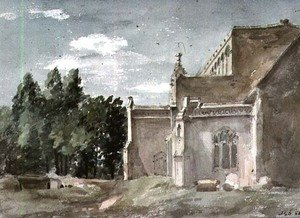 Reproduction oil paintings - John Constable - East Bergholt Church: View from the East