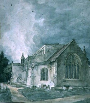 Reproduction oil paintings - John Constable - East Bergholt Church  Exterior