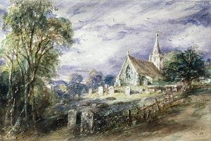 Famous paintings of Cemeteries: Stoke Poges Church