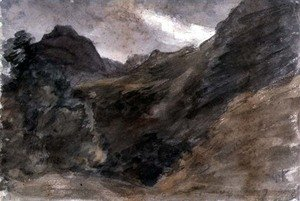 Reproduction oil paintings - John Constable - Eagle Crag, Borrowdale, 1806