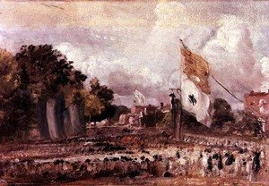 Reproduction oil paintings - John Constable - Waterloo Feast at East Bergholt