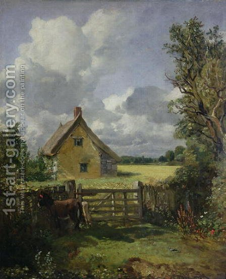 John Constable: Cottage in a Cornfield, 1833 - reproduction oil painting