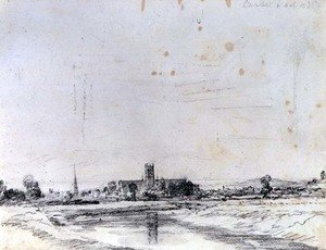 Reproduction oil paintings - John Constable - Worcester Cathedral from the South