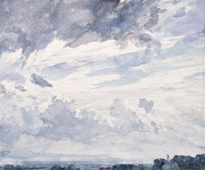Reproduction oil paintings - John Constable - Cloud Study
