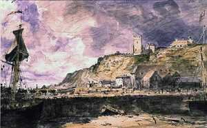 Reproduction oil paintings - John Constable - Folkestone Harbour, 1833