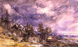 Reproduction oil paintings - John Constable - Hampstead Heath from near Well Walk, 1834