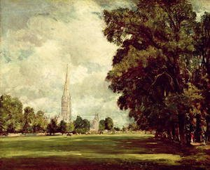 Reproduction oil paintings - John Constable - Salisbury Cathedral from Lower Marsh Close, 1820