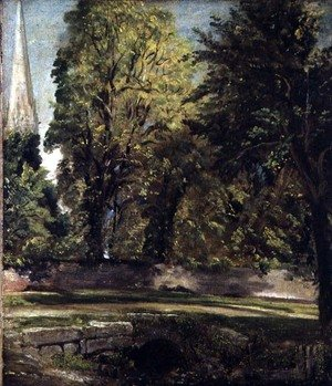 Reproduction oil paintings - John Constable - Salisbury Cathedral Seen Above the Close Wall