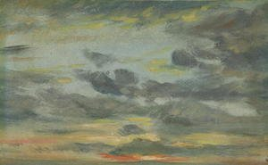 Reproduction oil paintings - John Constable - Sky Study, Sunset, 1821-22