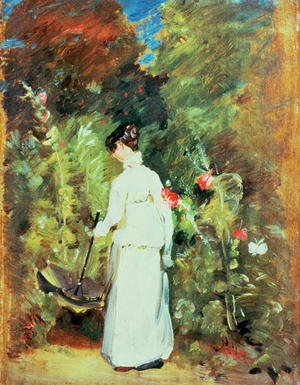 Reproduction oil paintings - John Constable - Mrs Constable in her Garden