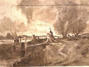 Reproduction oil paintings - John Constable - Study for 'The Lock', c.1826