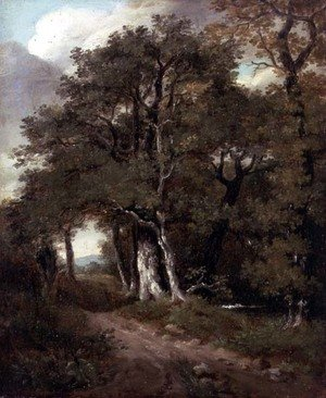 Reproduction oil paintings - John Constable - A Wooded Path