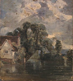 Reproduction oil paintings - John Constable - Willy Lot's Cottage, near Flatford Mill