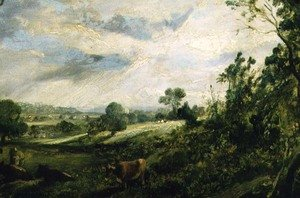 Reproduction oil paintings - John Constable - A Summer Evening