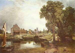 Reproduction oil paintings - John Constable - Dedham Lock and Mill, 1820
