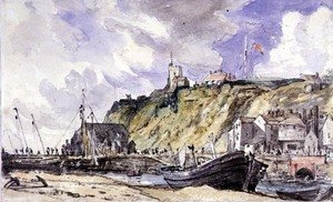 Reproduction oil paintings - John Constable - The Harbour, Folkestone, 1833,