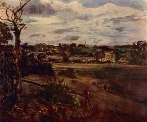 Reproduction oil paintings - John Constable - View of Highgate from Hampstead Heath, c.1834