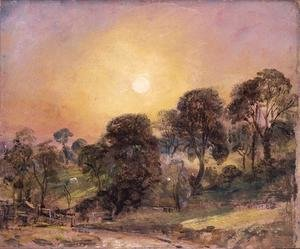 Reproduction oil paintings - John Constable - Trees on Hampstead Heath at Sunset