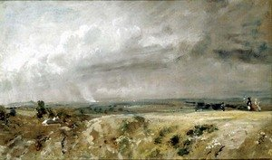 Reproduction oil paintings - John Constable - View on Hampstead Heath