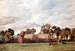 Reproduction oil paintings - John Constable - A Suffolk Landscape