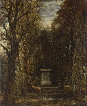 Reproduction oil paintings - John Constable - The Cenotaph to Reynold's Memory, Coleorton, c.1833