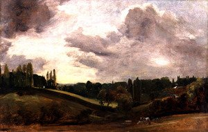 Reproduction oil paintings - John Constable - View of East Bergholt, c.1813