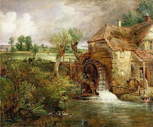 Reproduction oil paintings - John Constable - Mill at Gillingham, Dorset, 1825-26