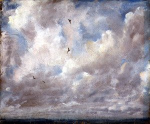 Reproduction oil paintings - John Constable - Cloud Study, 1821