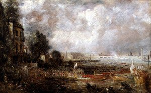 Reproduction oil paintings - John Constable - The Opening of Waterloo Bridge, c.1829-31