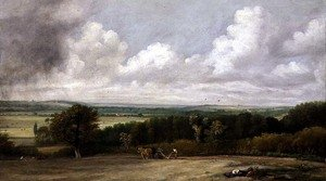 Reproduction oil paintings - John Constable - Landscape: Ploughing Scene in Suffolk, A Summerland  1824