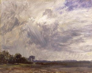 Reproduction oil paintings - John Constable - Landscape with Grey Windy Sky, c.1821-30